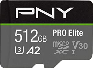 PNY 512GB PRO Elite Class 10 U3 V30 microSDXC Flash Memory Card