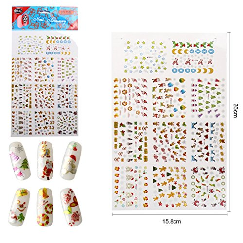 New 3D Christmas Nail Decal Sticker Decoration (005)