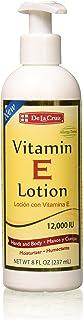 De La Cruz Vitamin E Lotion 12,000 IU, Allergy Tested, Paraben-Free, Made in USA, 8 FL OZ