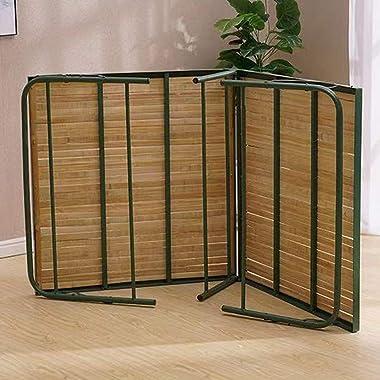 LSX Lit Pliant lit en Bambou lit en Bambou Simple renforcement lit de Bureau à Domicile, 2 Tailles lit Pliant (Size : 187X85X