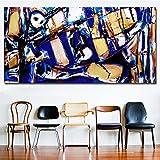 SQSHBBCperin Kind of Blue and Ochre también Pop Art HD Print Abstract Oil...