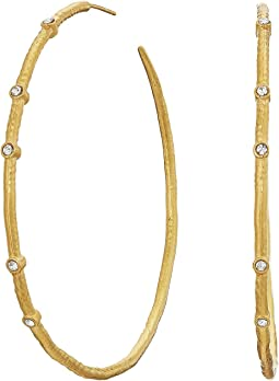 Dogeared - Infinity + One, Halo Hoops Earrings