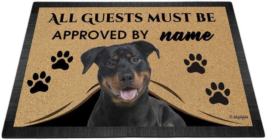 BAGEYOU All Guests Virginia Beach Mall Must be Approved with Dog Rot My 2021 Love Doormat