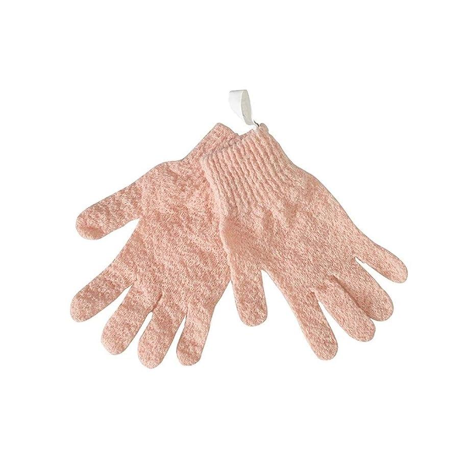 シフトファイアル郊外BTXXYJP シャワー手袋 お風呂用手袋 あかすり手袋 ボディブラシ ボディタオル やわらか バス用品 男女兼用 角質除去 (Color : Pink)