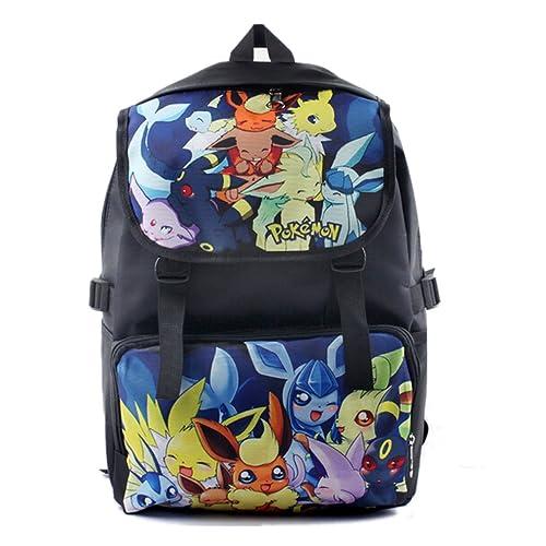 74a35afd08d0 Bonamana Cartoon Pokemon Pikachu Backpack Anime School Bag Rucksack for  Teens (B)