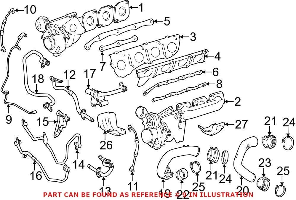 Genuine OEM Turbocharger Inlet Mercedes Hose Recommendation Cash special price for 2780980789