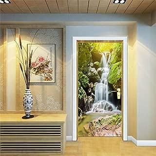 3D Door Stickers Decor Door Decal Door Mural Removable Vinyl Door Wall Mural Door Wallpaper for Home Decor 30.3x78.7 (Waterfall)