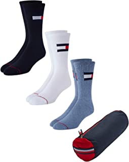 Men's Athletic Socks – Cushion Crew Socks, Zipper Travel...