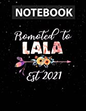 Promoted To Lala 2021 Mother's Day Pregnancy Women Notebook Journal Line/ 130 Pages / Large 8.5''x11''