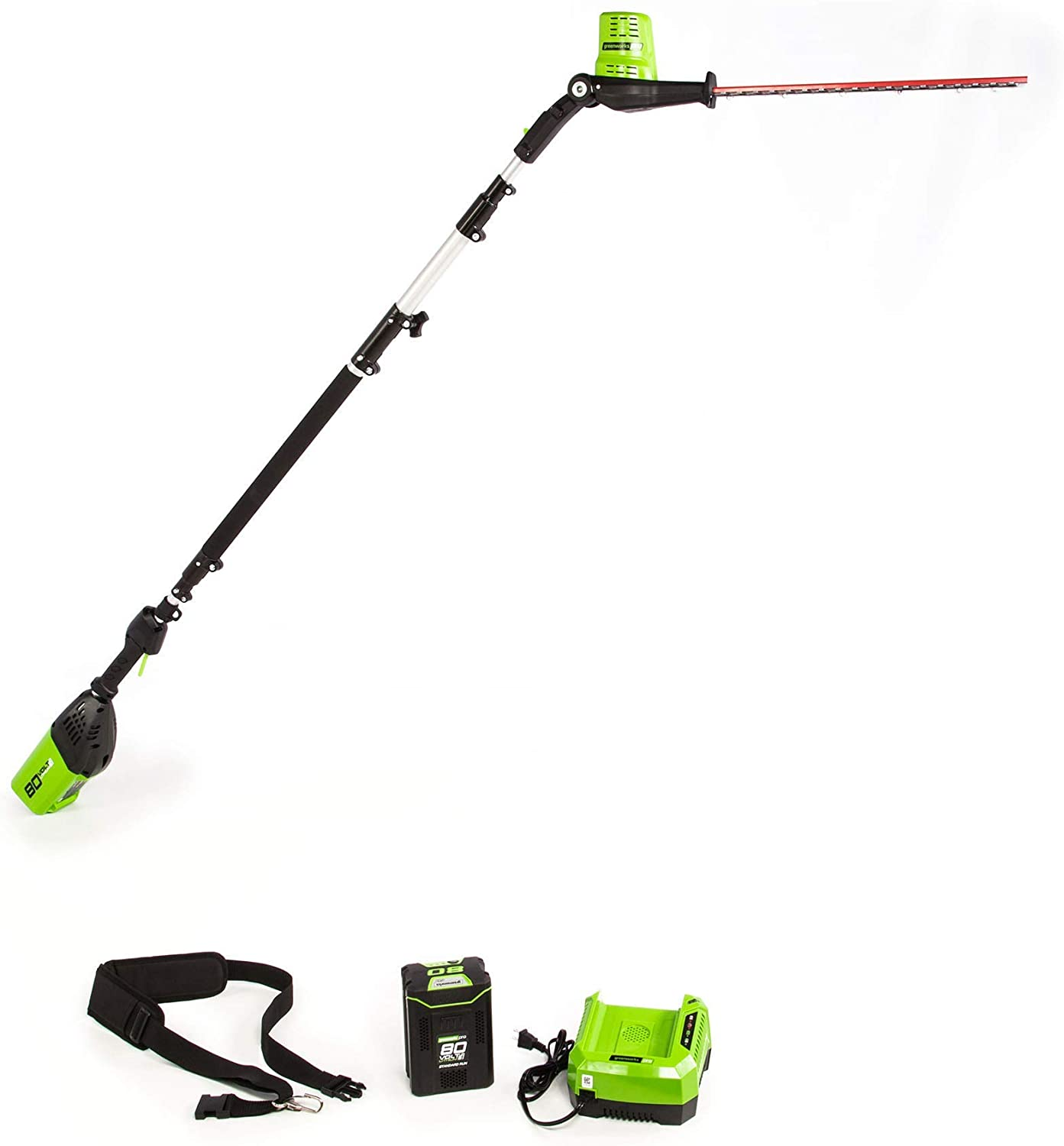 National products Max 57% OFF Greenworks 80V 20 inch Cordless PH80B210 Re Hedge Trimmer Pole