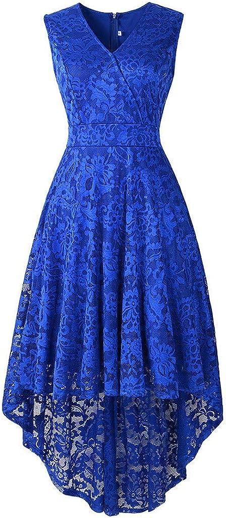 iQKA Women Sleeveless V Neck Mini Dress Vintage Lace Solid Vintage Country Rock Cocktail Dress Vestido