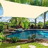 Dioxide Tende da Sole per Esterno, Vela Ombreggiante,Tenda a Vela Rettangolare 2 x 3 Metri, Protezione Raggi UV Vela Tenda, Tenda a Vela per Giardino Balcone Terrazza, Crema