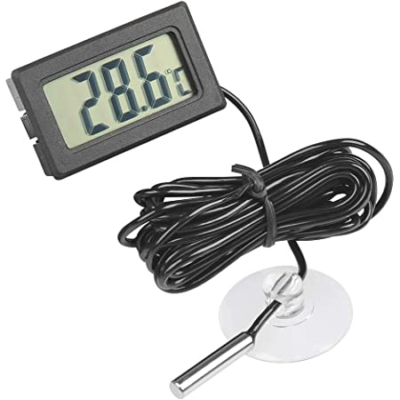 A0127 Selbstauto Lcd Digitalanzeigen Innenthermometer Meter Im Freien Mit 1 5m Kabel Baumarkt