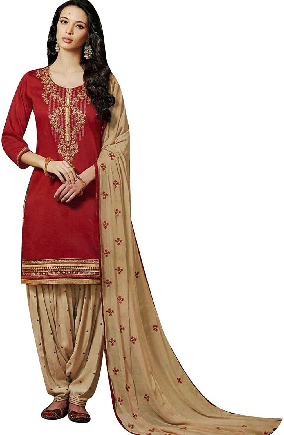 Max 83% OFF ladyline Patiala Salwar Kameez Cotton Embroidered with D Virginia Beach Mall Chiffon
