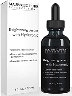 MAJESTIC PURE Hyaluronic Acid Serum for Face - Best Advanced Formula for Skin Brightening, Hydration and Facial Moisturizing - Premium Help For Anti Aging and Anti Wrinkle - 1 fl oz