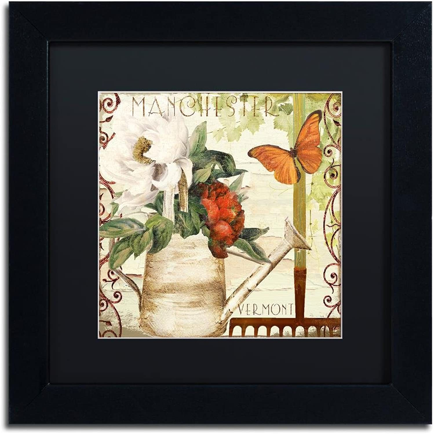 Trademark Fine Art ALI4601-B1111BMF Vermont Summer III by color Bakery, Black Matte, Black Frame 11x11
