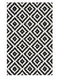 nuLOOM Kellee moderner Wollteppich, Schwarz, 152.4 x 243.84