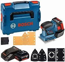 Bosch Professional 18V System Accuvlakschuurmachine Gss 18V-10 (Incl. 2X 5,0Ah-Accu + Oplader, Schuurpapier, 3X Schuurplat...