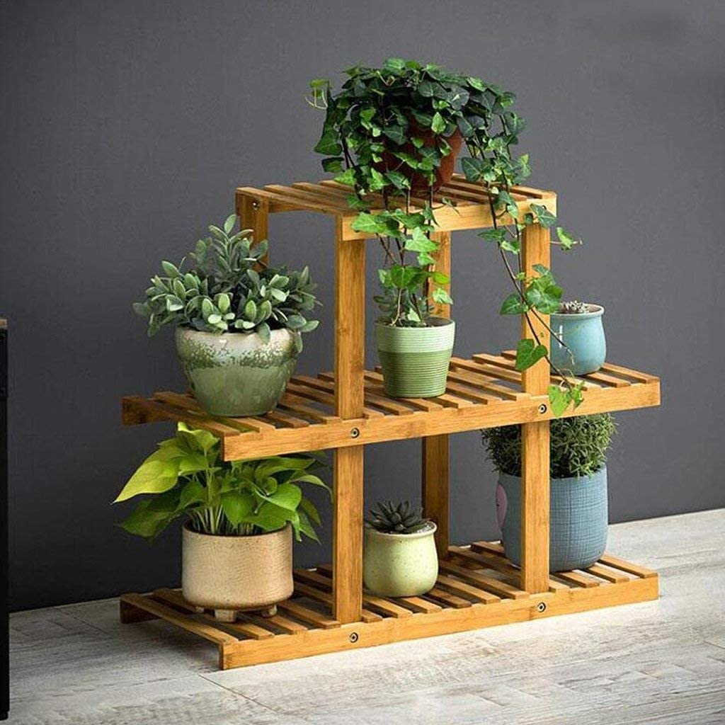 JIGUANG Flower Pot Rack Shelf Fashionable Cheap mail order sales Solid Stand Balcony