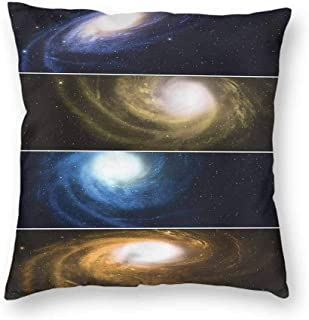Mannwarehouse Nebula Breathable Pillowcase Spiral Galaxies Horizontal Soft and durableW20 x L20