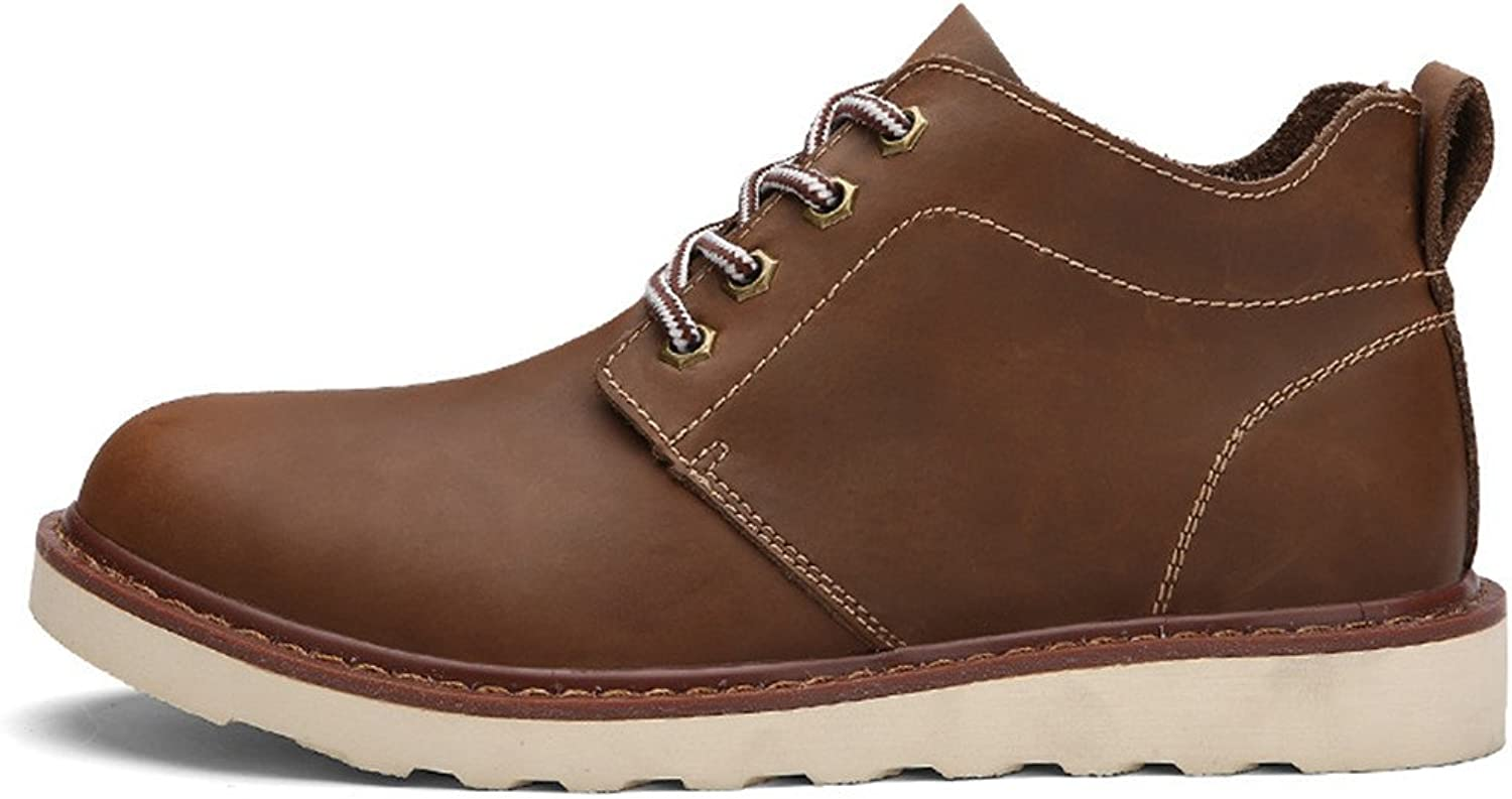 ZQ@QXComfort boots for men and women in autumn and winter, men's leather boots, Martin boots, men's Boots