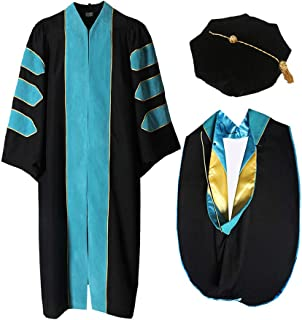 Happy Secret Doctoral Gown Tam And Hood With Gold Pinging Unisex