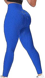 Anti-celluliter sportleggings slim fit rumplyft sport leggings hög midja yogabyxor för kvinnor kompression leggings