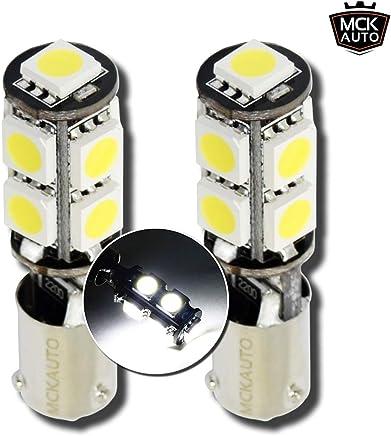 Juego de bombillas LED H21W 9SMD para luz de posición de xenón blanco BAY9s sin error