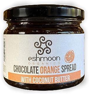Eshmoon, Organic Orange Chocolate Spread, 330gr ,Paleo Friendly, Molasses, Gluten Free, Sugar Free, Vegan. Made, 100% Natu...