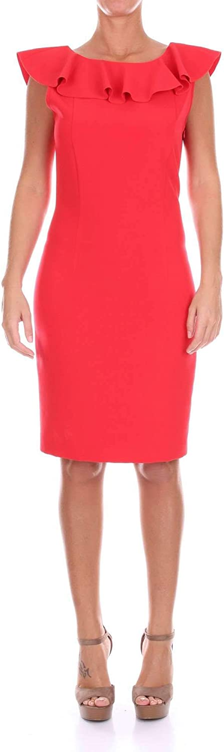 Space Style Concept Women's SMAB02801RED Red Viscose Dress