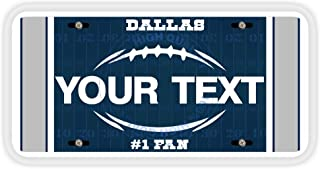 BleuReign(TM Personalized Custom Name Football Dallas Car Vehicle License Plate Auto Tag