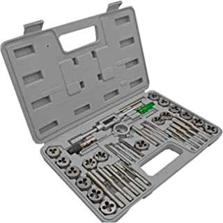 H.C Tap and Die Set 40-Piece - SAE Inch Sizes Essential Threading Tool with Storage Case