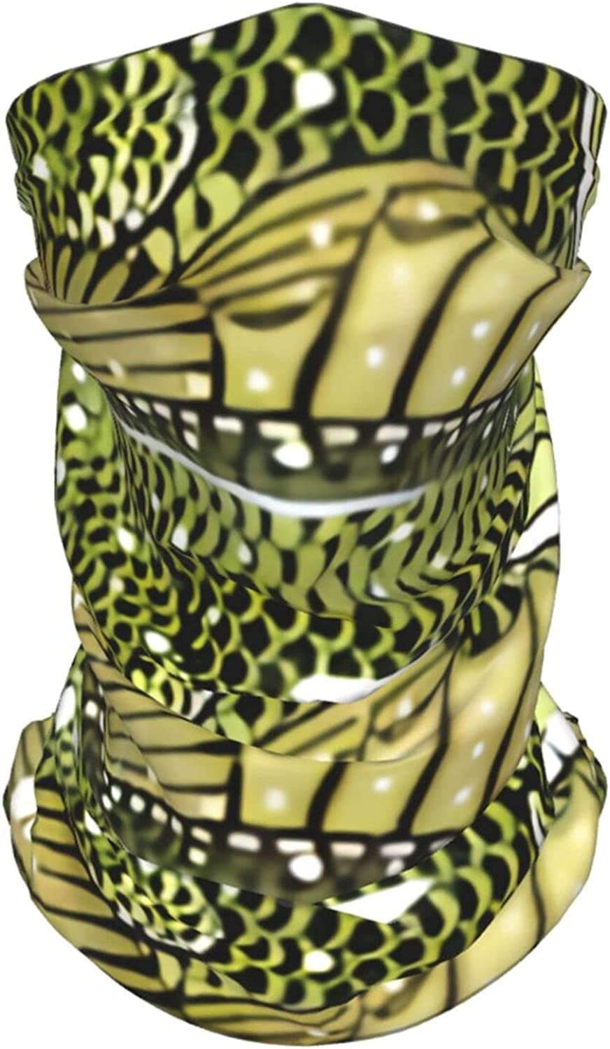 Neck Heater Largemouth Bass Animal Summer Ice Silk Breathable Face Mask Neck Gaiter Scarf Bandanas for Fishing,Hiking,Running,Motorcycle and Daily Wear
