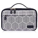 FYY Toiletry Bag, Travel Cosmetic Bag Wash Gargle Bag Large Capacity Zippered Organizer with Top Handle for Men Women Skywave Black