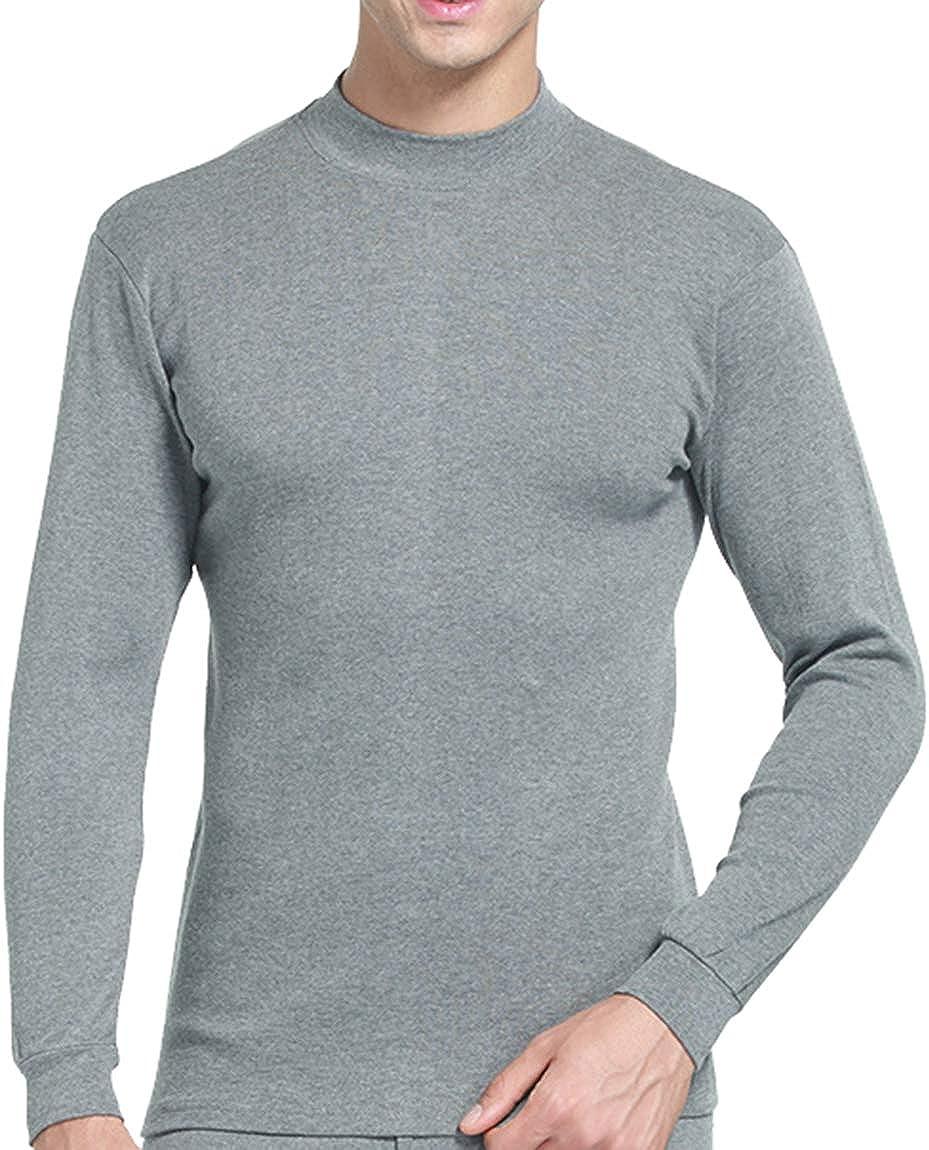 Femaroly Men Cotton Thermal Underwear Set Autumn Warm Shirt and Pant 2Pc Sweater