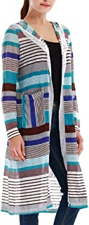 Woman Regularly Stripe A Long-Sleeved Hooded Jacket