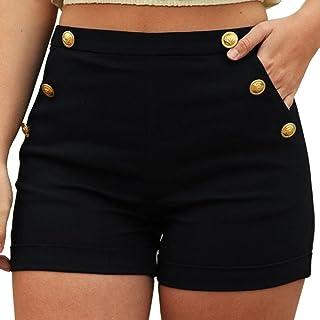 22ca227e9dd6 Amazon.es: pantalones cortos mujer de vestir - Negro