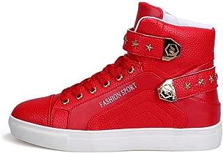 PP FASHION Men's Korean Style High Top Platform Fashion Sneaker Sports Casual Shoes
