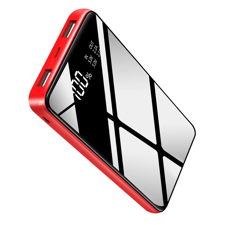 Cargador portátil con batería de Alta Capacidad de 25000 mAh, tamaño más pequeño, Peso más Ligero con Dispositivos Inteligentes con Pantalla LCD Completa, teléfono Android y Otros teléfonos móviles: Amazon.es: Electrónica