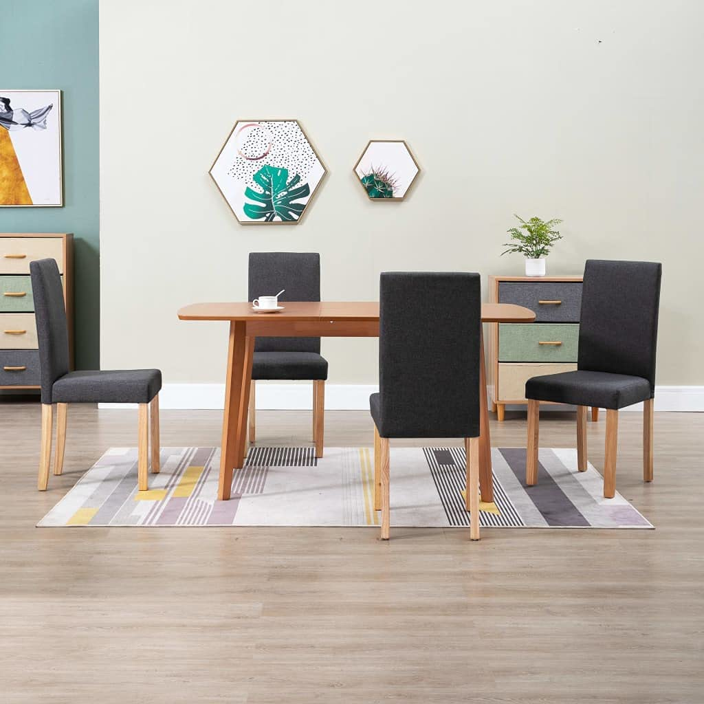 Top-Spring Dining Chairs 4 pcs Dark Ranking TOP3 Gray Don't miss the campaign Fabric