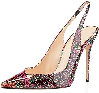 Nouveau haut femmes à lacets stiletto haut talon bout ouvert bride arrière chaussures taille 3-8