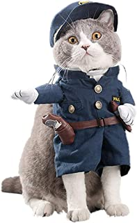 Pet Dog Cat Policeman Costume, Pet Halloween Christmas Cosplay Funny Apperal for Small Dog Cat Puppy (XL (Chest: 20.5-22.4...