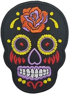 KUSTOM FACTORY - Toppa con teschio messicano, colore: Nero Calavera Dia di Los Muertos