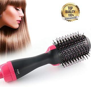 Cepillo de aire caliente de un paso, alisador secador y voluminizador, multifuncional, cepillo de alta potencia para generador de iones negativos, cepillo para mujeres