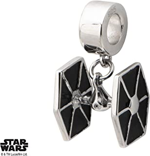 Disney 925 Sterling Silver Star Wars Tie Fighter Dangle Bead Charm