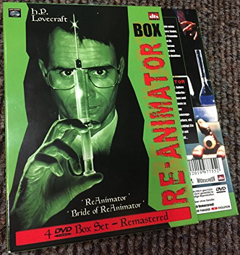Re-Animator & Bride Of Re-Animator - Limited Remastered Edition Box - 4 Disc Box Set Digipack Unrated + R-Rated - DVD