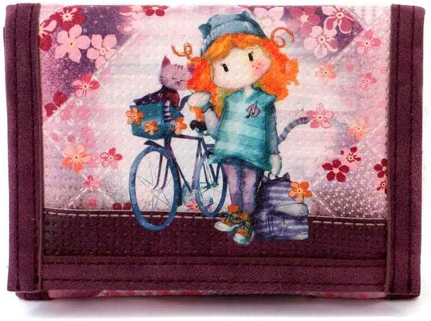 Forever Ninette Forever Ninette Bicycle-Wallet Coin Pouch, 12 cm,Multicolour