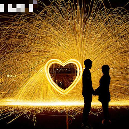 DYKJK Durable Selfie Tool Steel Wool Photography Spectacular Fiery Photo Metal Fiber For Light Painting Long-Exposure Effect for Cleaning Kitchen, Barbecues,