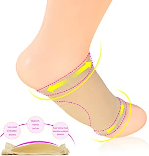 Forefoot Foot Drop Orthosis Silicone Insoles Corrective Flat Foot Guard Care Shoes Insoles, 1 Pair