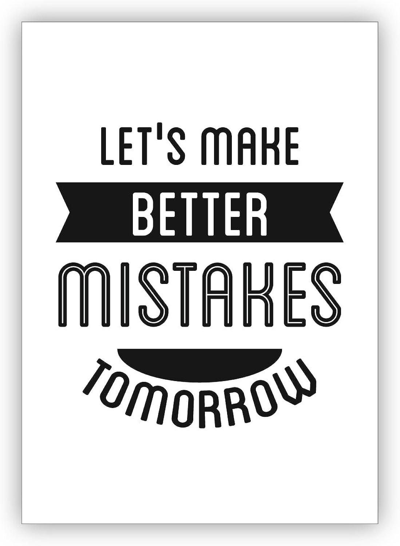 Glückwunschkarten Set (16Stk) Klassische Motto Grußkarte  Let's make better better better mistakes tomorrow B073XL3YXF | Einfach zu bedienen  802f3d